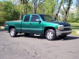 2000 Meadow Green Metallic Chevrolet Silverado 1500 LS Extended Cab 4x4 #64554919