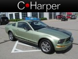 2005 Legend Lime Metallic Ford Mustang V6 Premium Coupe #64554529