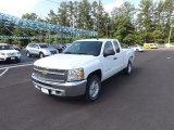 2012 Summit White Chevrolet Silverado 1500 LT Extended Cab 4x4 #64555105