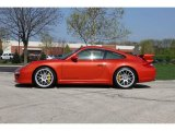 2012 Porsche 911 Paint to Sample Orange Metallic