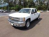 2012 Summit White Chevrolet Silverado 1500 LT Crew Cab 4x4 #64555096