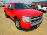 2008 Victory Red Chevrolet Silverado 1500 LS Regular Cab #64555083