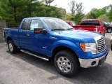 2012 Blue Flame Metallic Ford F150 XLT SuperCab 4x4 #64611668