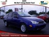 2005 Sonic Blue Metallic Ford Focus ZX4 S Sedan #64612099