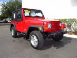 2006 Flame Red Jeep Wrangler SE 4x4 #64611497