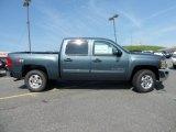 2012 Blue Granite Metallic Chevrolet Silverado 1500 LT Crew Cab 4x4 #64611982