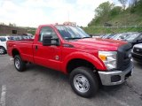 2012 Vermillion Red Ford F350 Super Duty XL Regular Cab 4x4 #64663549