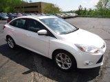 2012 White Platinum Tricoat Metallic Ford Focus SEL Sedan #64663548