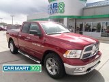 2011 Deep Cherry Red Crystal Pearl Dodge Ram 1500 Big Horn Quad Cab 4x4 #64664343