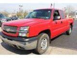 2003 Victory Red Chevrolet Silverado 1500 Z71 Extended Cab 4x4 #64665089