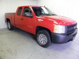 2009 Victory Red Chevrolet Silverado 1500 Extended Cab #64664304