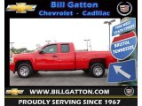 2010 Victory Red Chevrolet Silverado 1500 LS Extended Cab #64664979