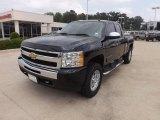 2010 Black Granite Metallic Chevrolet Silverado 1500 LT Extended Cab 4x4 #64664188