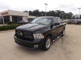2010 Brilliant Black Crystal Pearl Dodge Ram 1500 Sport Crew Cab #64664185