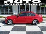 2009 Crimson Red BMW 3 Series 328i Sedan #64664159