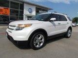 2011 White Platinum Tri-Coat Ford Explorer Limited #64664135
