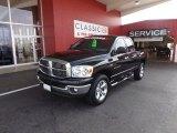2007 Brilliant Black Crystal Pearl Dodge Ram 1500 Lone Star Quad Cab 4x4 #64664116