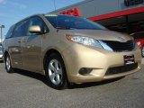 2011 Sandy Beach Metallic Toyota Sienna LE #64663207