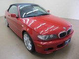 2006 Imola Red BMW 3 Series 330i Convertible #64663082