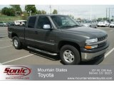 2002 Medium Charcoal Gray Metallic Chevrolet Silverado 1500 LS Extended Cab 4x4 #64662968