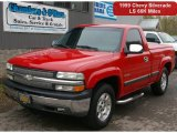 1999 Victory Red Chevrolet Silverado 1500 LS Regular Cab #64663843