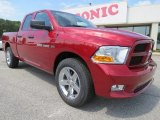 2012 Deep Cherry Red Crystal Pearl Dodge Ram 1500 Express Quad Cab #64663830