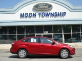 2012 Red Candy Metallic Ford Focus SE Sedan #64663786