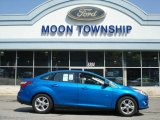 2012 Blue Candy Metallic Ford Focus SE Sport Sedan #64663785