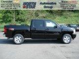2012 Black Chevrolet Silverado 1500 LT Crew Cab 4x4 #64663750