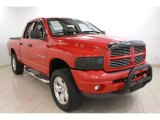 2002 Flame Red Dodge Ram 1500 Sport Quad Cab 4x4 #64664432