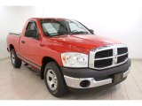 2007 Flame Red Dodge Ram 1500 ST Regular Cab #64664426
