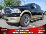 2012 Black Dodge Ram 1500 Laramie Longhorn Crew Cab #64663636