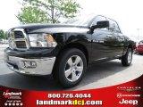 2012 Black Dodge Ram 1500 Big Horn Crew Cab #64663623