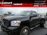 2007 Brilliant Black Crystal Pearl Dodge Ram 3500 SLT Regular Cab 4x4 Dually #64821493