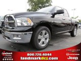2012 Black Dodge Ram 1500 Big Horn Quad Cab #64821483