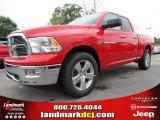 2012 Flame Red Dodge Ram 1500 Big Horn Quad Cab #64821473