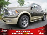 2012 Sagebrush Pearl Dodge Ram 1500 Laramie Longhorn Crew Cab #64821471