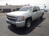 2011 Sheer Silver Metallic Chevrolet Silverado 1500 LS Crew Cab #64821666