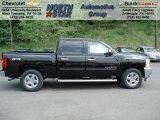 2012 Black Chevrolet Silverado 1500 LT Crew Cab 4x4 #64821514
