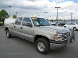 2003 Light Pewter Metallic Chevrolet Silverado 1500 LS Crew Cab 4x4 #64821751