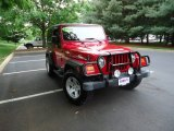 2006 Flame Red Jeep Wrangler Rubicon 4x4 #64870292