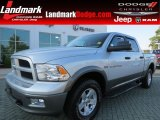 2012 Bright Silver Metallic Dodge Ram 1500 Outdoorsman Crew Cab 4x4 #64869958