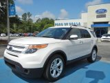 2013 White Platinum Tri-Coat Ford Explorer Limited #64869928