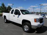 2007 Summit White GMC Sierra 2500HD SLE Extended Cab 4x4 #64870170