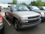 2000 Light Pewter Metallic Chevrolet Silverado 1500 LS Regular Cab 4x4 #64869785
