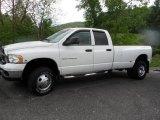 2004 Bright White Dodge Ram 3500 SLT Quad Cab 4x4 Dually #64924968