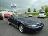 2002 True Blue Metallic Ford Mustang V6 Convertible #64924681