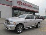 2011 Bright Silver Metallic Dodge Ram 1500 Big Horn Quad Cab 4x4 #64924666