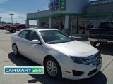 2010 White Platinum Tri-coat Metallic Ford Fusion SEL V6 AWD #64924911