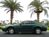 2000 Amazon Green Metallic Ford Mustang V6 Coupe #64924558